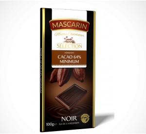 Mascarin Smooth Dark Chocolate, 64% Cocoa