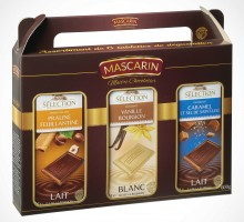 Box of 6 gourmet chocolate bar